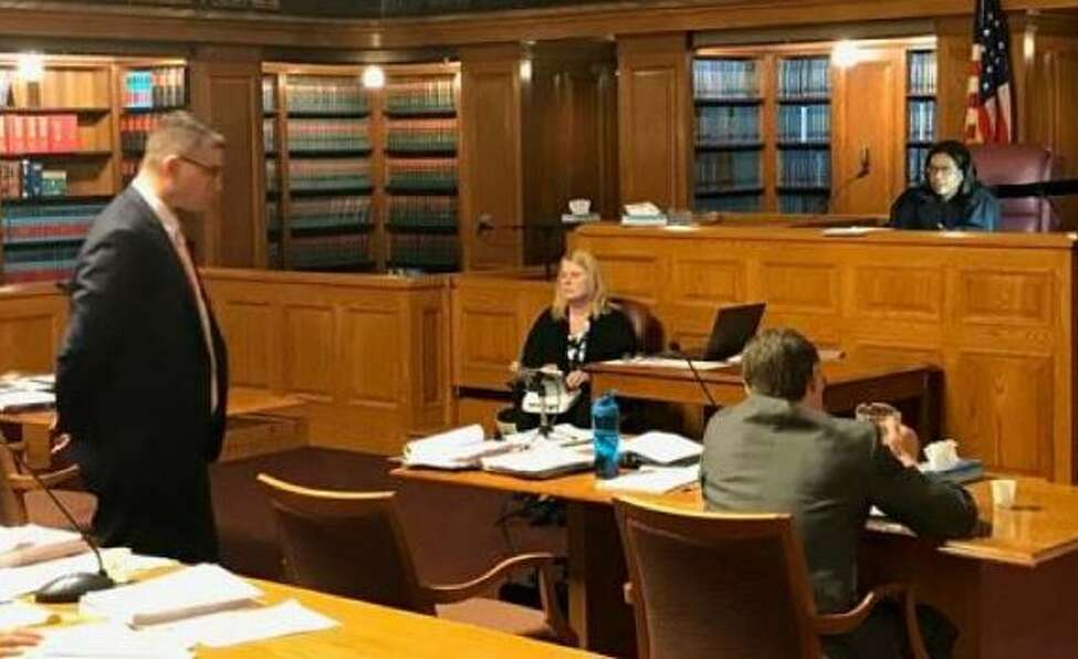 C. Harris Dague, a special counsel for the Attorney General's office, argues in court against an injunction that private schools are seeking to halt a new oversight program. In Albany, NY April 15, 2019.