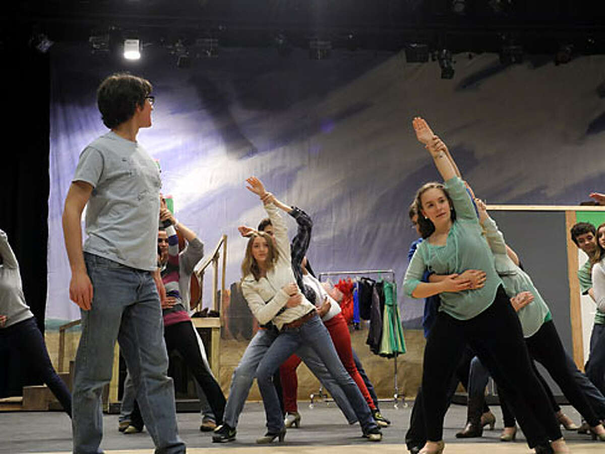 Rehearsals for Trumbull High's 'Crazy for You'