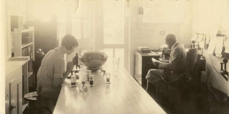 The doctor's laboratory at the sanatorium. (Saratoga County Historian)