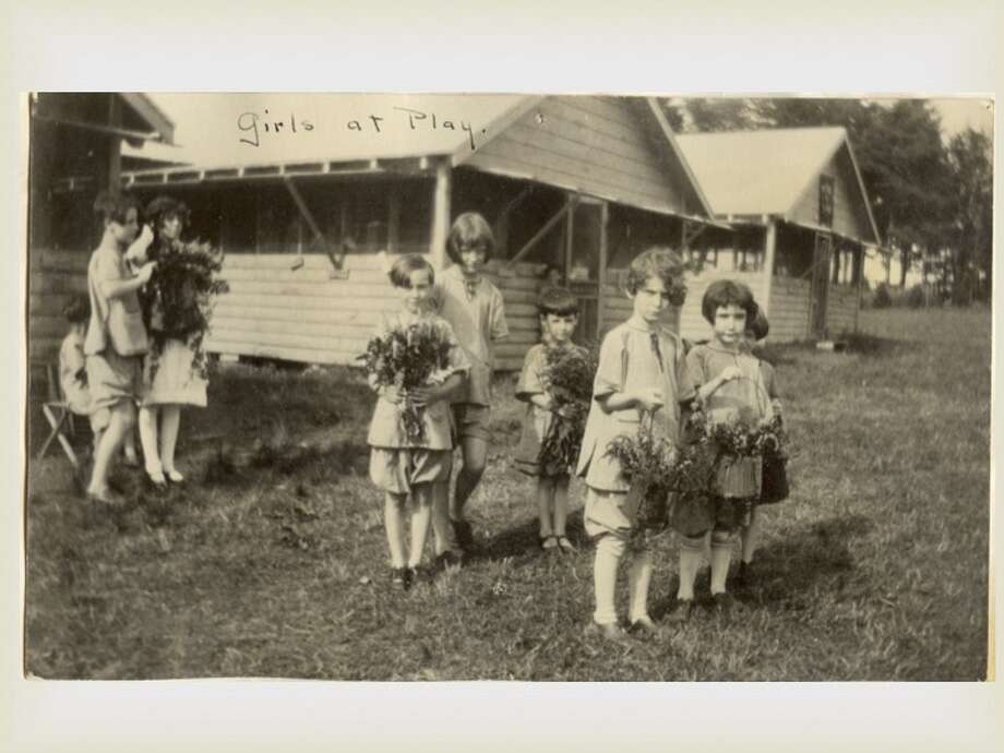 Children collecting flowers at The Homestead. (Saratoga County Historian) Photo: Saratoga County Historian