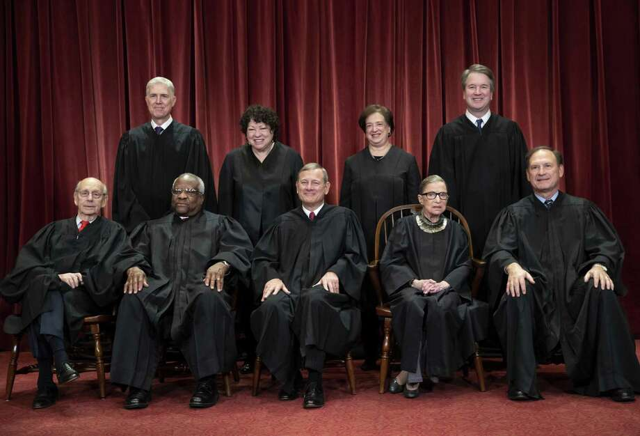 The current Supreme Court Justices would aver they rule on cases without regard to partisanship. But that is not what history supports. Photo: J. Scott Applewhite /Associated Press / Copyright 2018 The Associated Press. All rights reserved