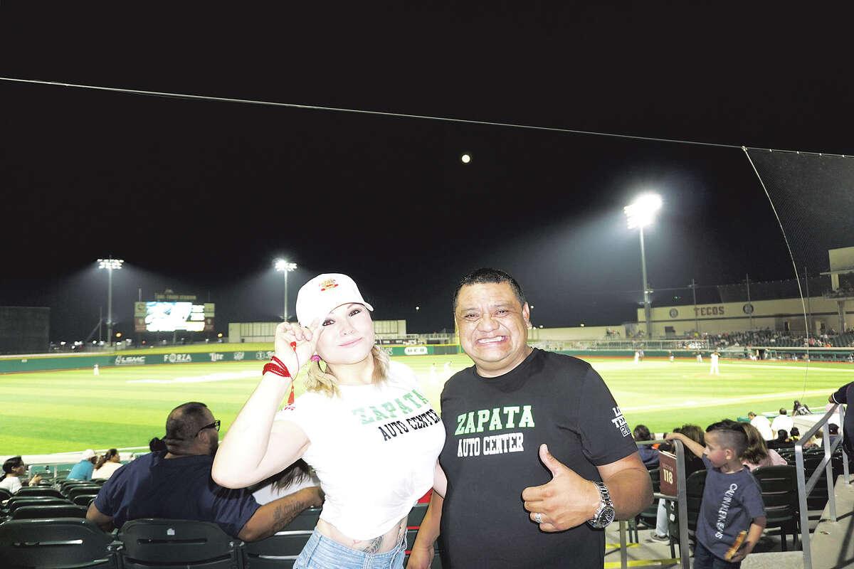 Letty Hernandez and Alex Melchor at Uni-Trade Stadium