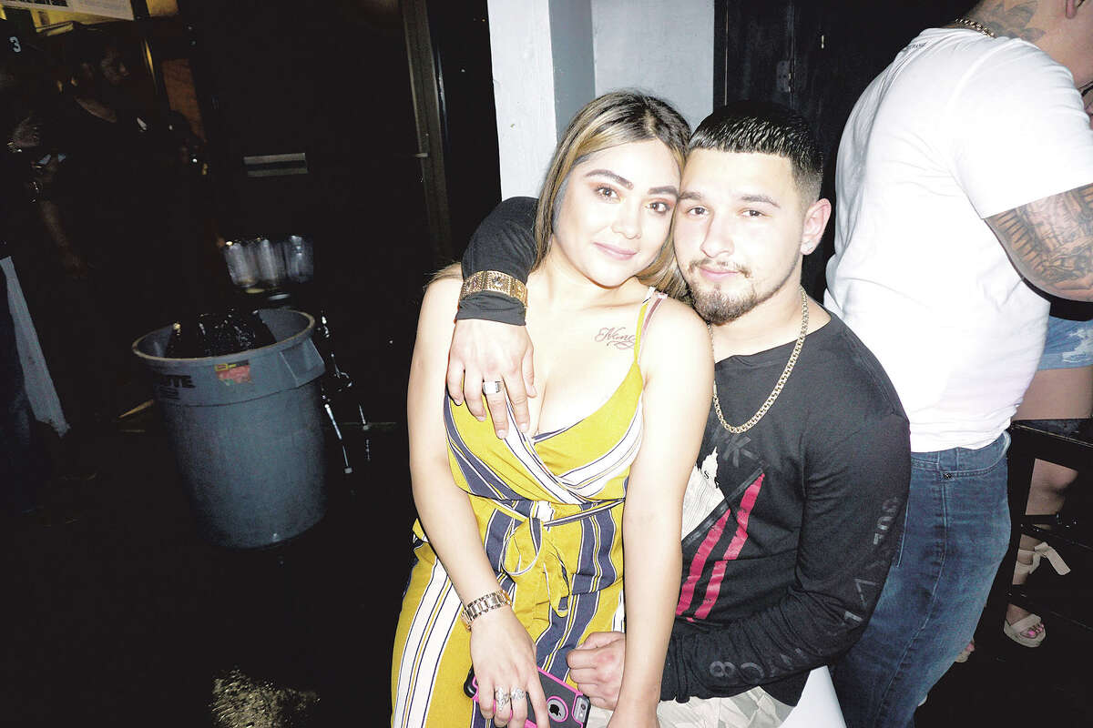 Selina Briones and Sergio Barragan at The Happy Hour Downtown Bar
