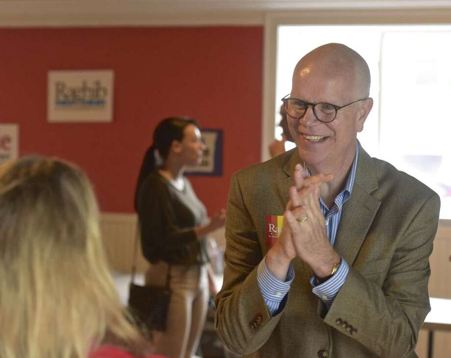 State Comptroller Kevin Lembo, right, held a LGBTQ day of action with Raghib Allie-Brennan, a Democrat running for the state House in the 2nd District. Saturday, October 6, 2018, Bethel, Conn. Photo: H John Voorhees III / Hearst Connecticut Media / The News-Times
