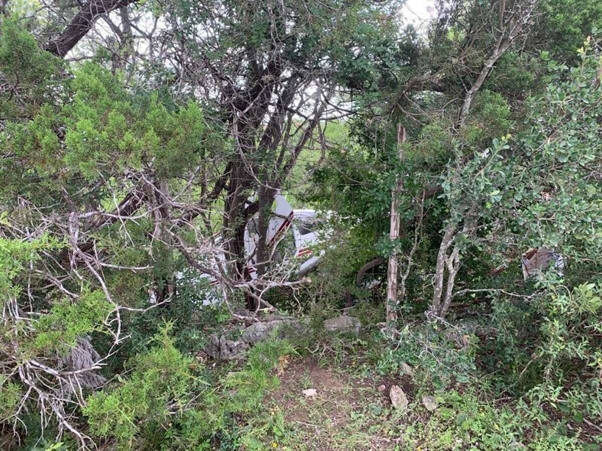 A single-engine plane crash-landed Friday, May 31, 2019, after taking off from an airport in Bulverde. No one was seriously injured, according to officials.