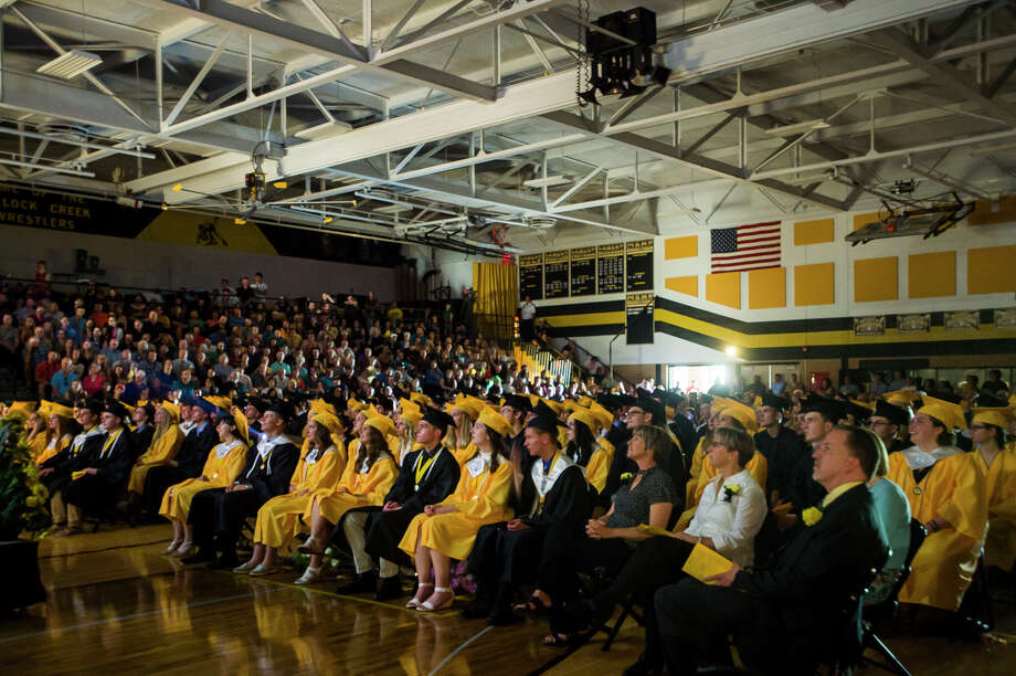FILE — Bullock Creek High School seniors celebrate graduation during their commencement ceremony on Friday, May 31, 2019 in the school's gymnasium. (Katy Kildee/kkildee@mdn.net) Photo: (Katy Kildee/kkildee@mdn.net)