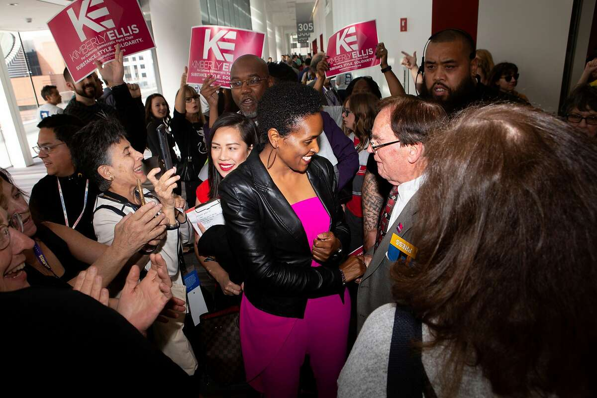 Kimberly Ellis (center) was selected by S.F. Mayor London Breed to head the the Department on the Status of Women, which was established in 1994.