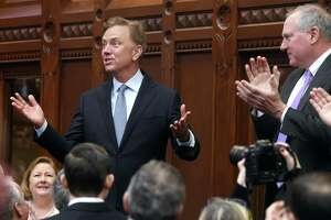 Governor Ned Lamont, in a file photo taken last year in the historic hall of the House of Representatives.