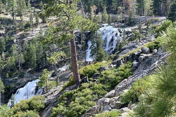 A young woman died at Eagle Falls near Lake Tahoe's Emerald Bay after losing her footing while taking selfies.