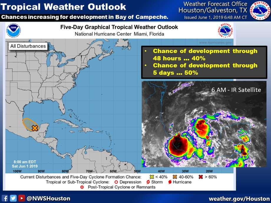 On the first day of hurricane season, Gulf disturbance