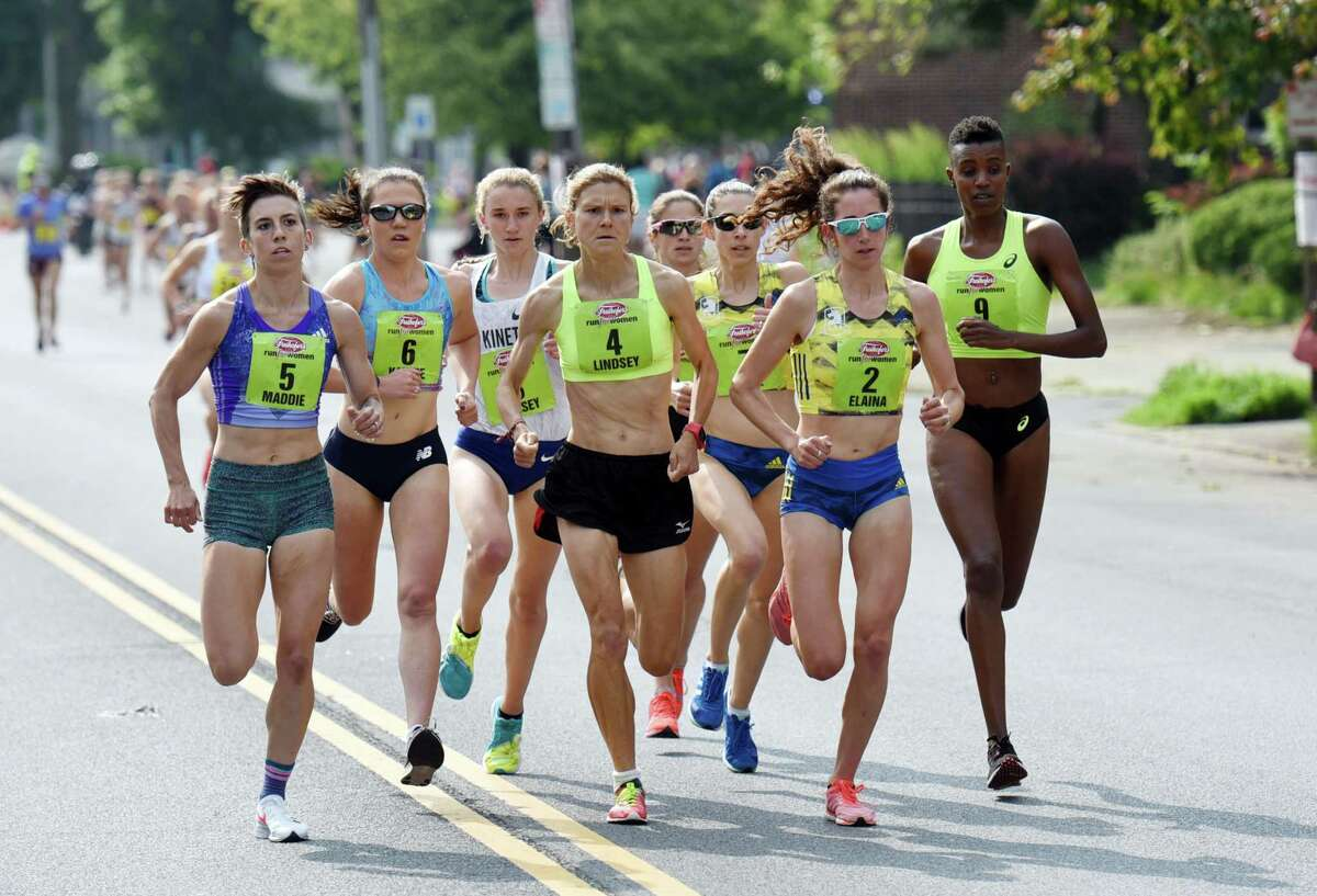 Runners takeoff up Washington Ave during the Freihofer's Run For Women on Saturday, June 1, 2019 in Albany, NY. (Phoebe Sheehan/Times Union)