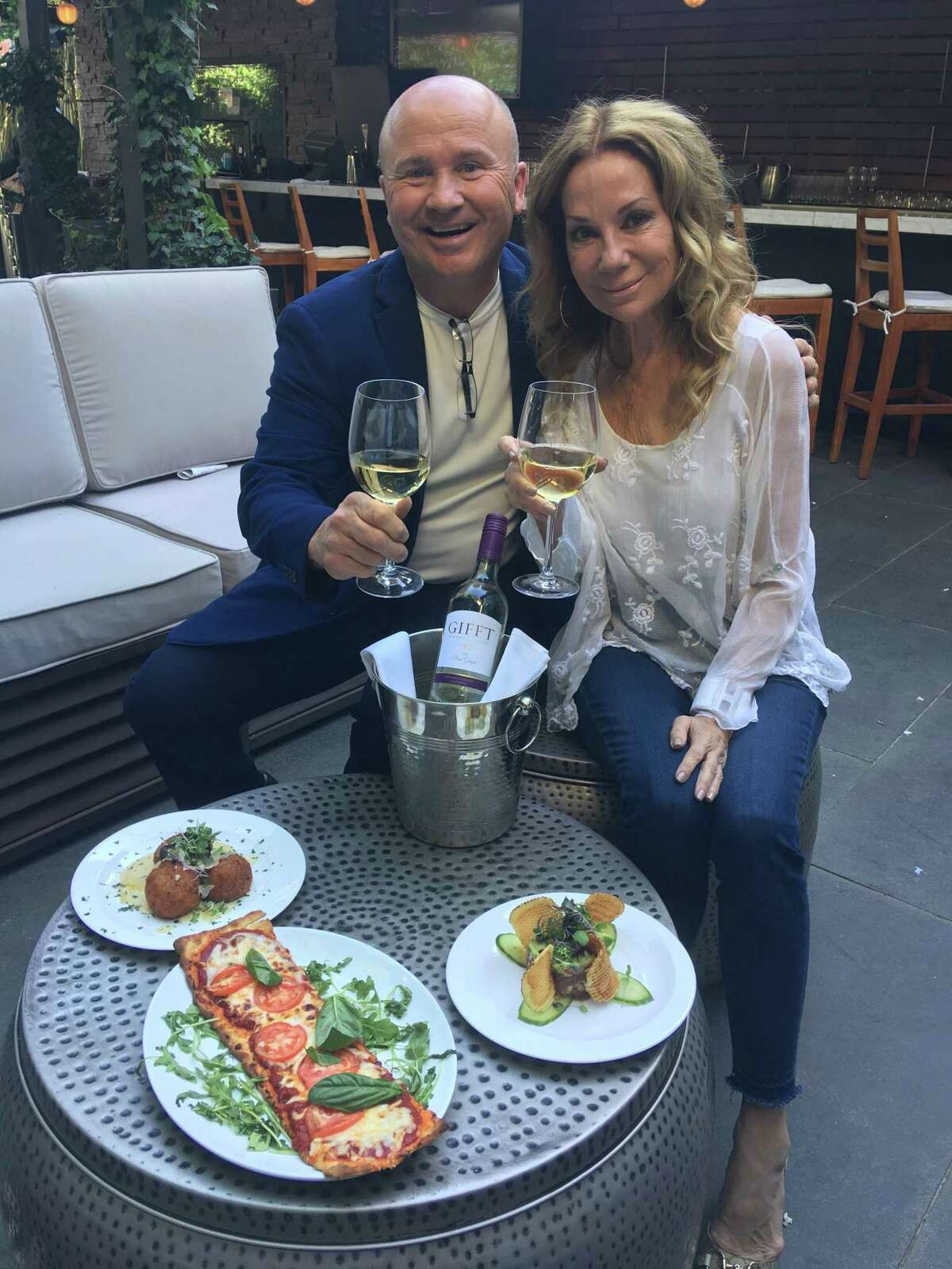 Former 'Today' co-host and Riverside resident Kathie Lee Gifford with Tony Capasso at JHOUSE in Riverside.