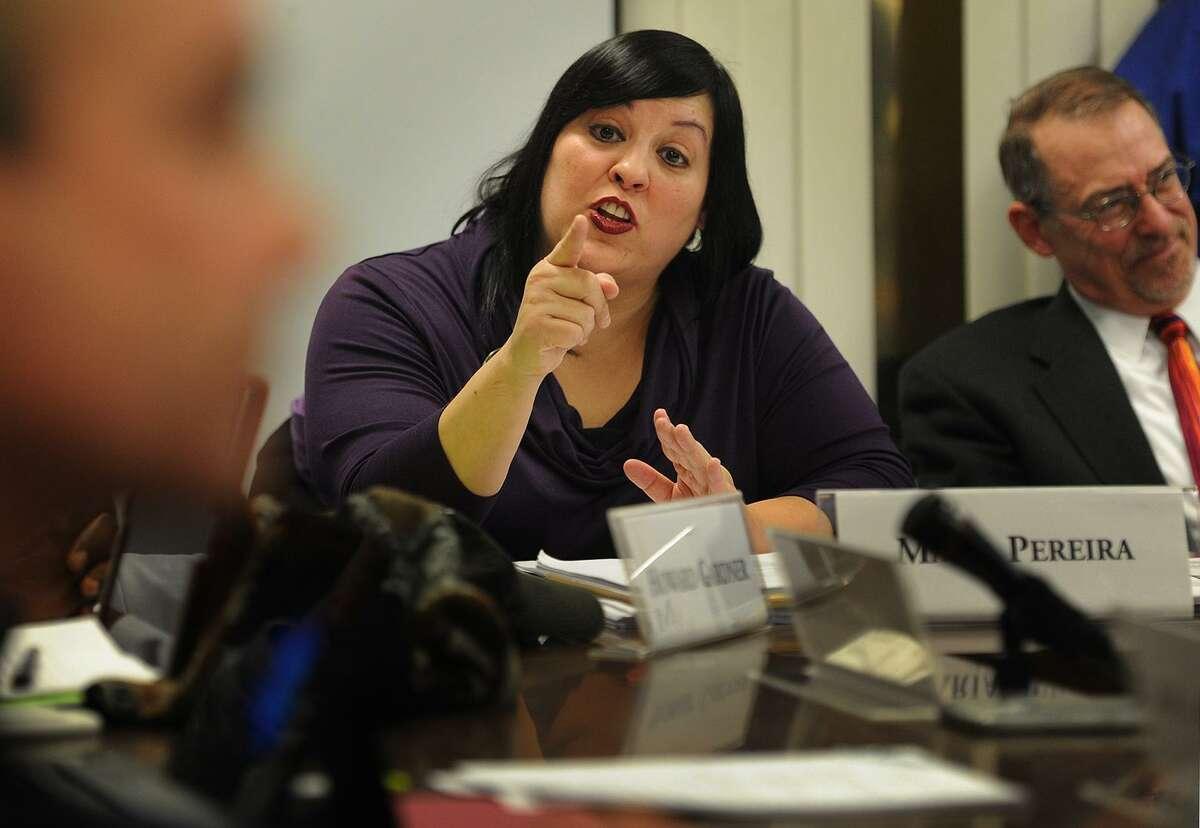 File photo of Bridgeport Board of Education member Maria Pereira.