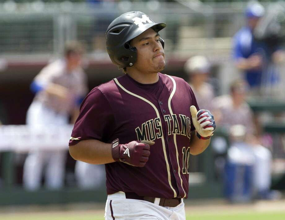 Willie Ibarra #10 of Magnolia West reacts after hitting a linedrive in the sixth inning of Game 3 during a Region III-5A final series at Blue Bell Park on the campus of Texas A&M University, Saturday, June 1, 2019, in College Station. Photo: Jason Fochtman, Houston Chronicle / Staff Photographer / © 2019 Houston Chronicle