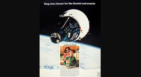 In this undated handout image, an ad for Tang shows how the orange-flavored powder drink became popular with American families in the 1960s and beyond after being used by astronauts in space. But it wasn't developed by NASA.