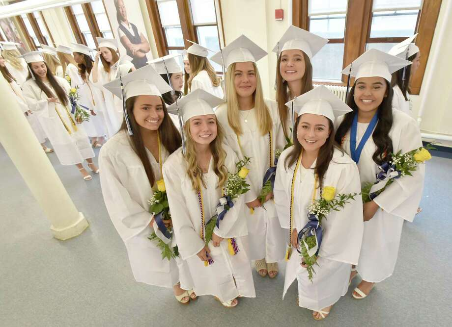Milford,  Connecticut - Saturday, June 1, 2019:  103 seniors from the Academy of Our Lady of Mercy Lauralton Hall Class of 2019 in Milfordgraduated Saturday morning at the school. Photo: Peter Hvizdak, Hearst Connecticut Media / New Haven Register