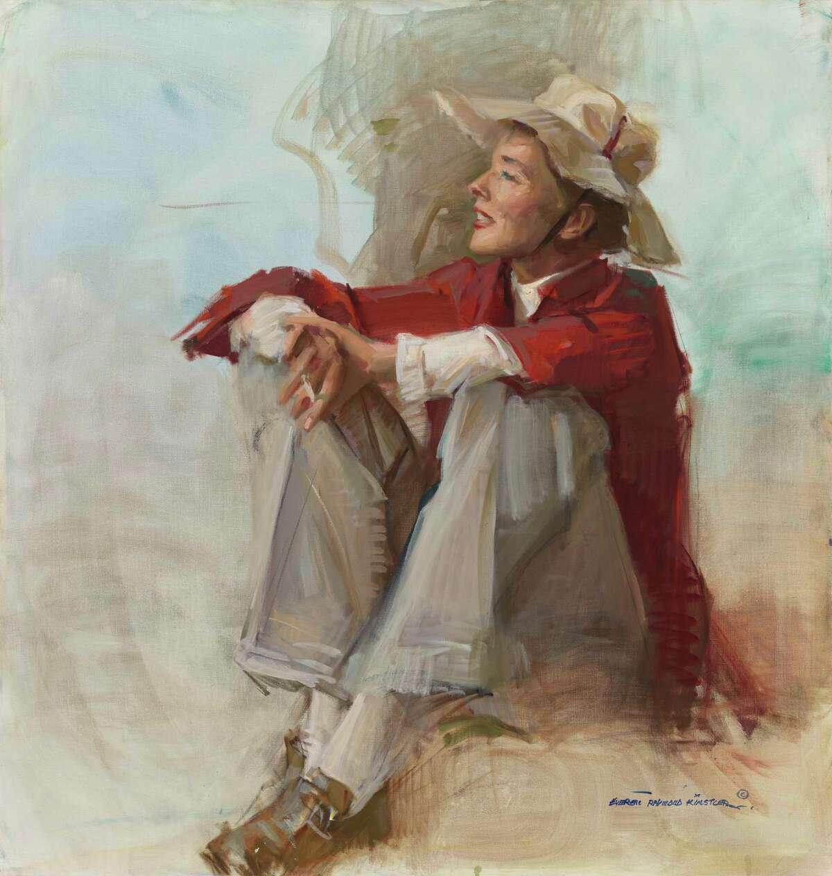 A portrait of Katharine Hepburn painted by Everett Raymond Kinstler in 1982.