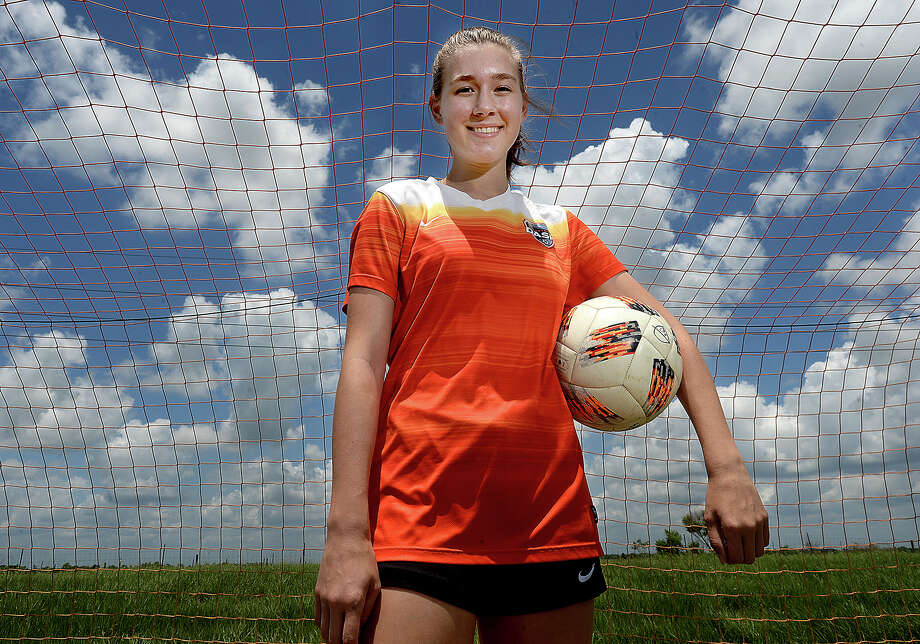 Port Neches - Groves senior Grace Seymour will be taking her soccer skills to Mississippi State next year after playing her last two years of high school with the Houston DASH soccer club.  Photo taken Saturday, May 25, 2019 Kim Brent/The Enterprise Photo: Kim Brent, The Enterprise / BEN
