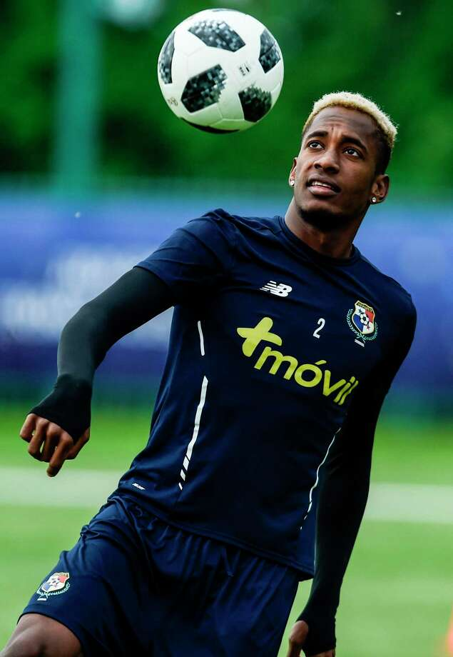 Panama's Michael Murillo eyes the ball during a training session ahead of the 2018 World Cup in Russia at the Olympic training center in Saransk on June 10, 2018   / AFP PHOTO / Juan BARRETOJUAN BARRETO/AFP/Getty Images Photo: JUAN BARRETO / AFP or licensors