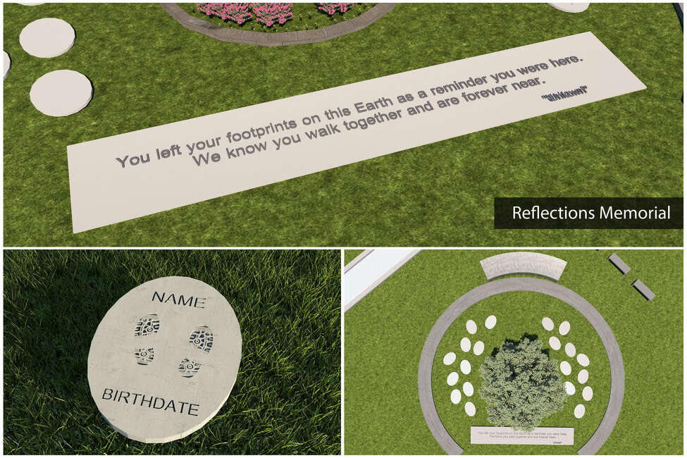 An artist rendering is pictured of what would be included in the proposed memorial at the site of the Schoharie limo crash, in which 20 people died in 2018. The owners of the Apple Barrel Country Store, right next to the crash site, are donating the land and assisting in fundraising and designing the memorial.