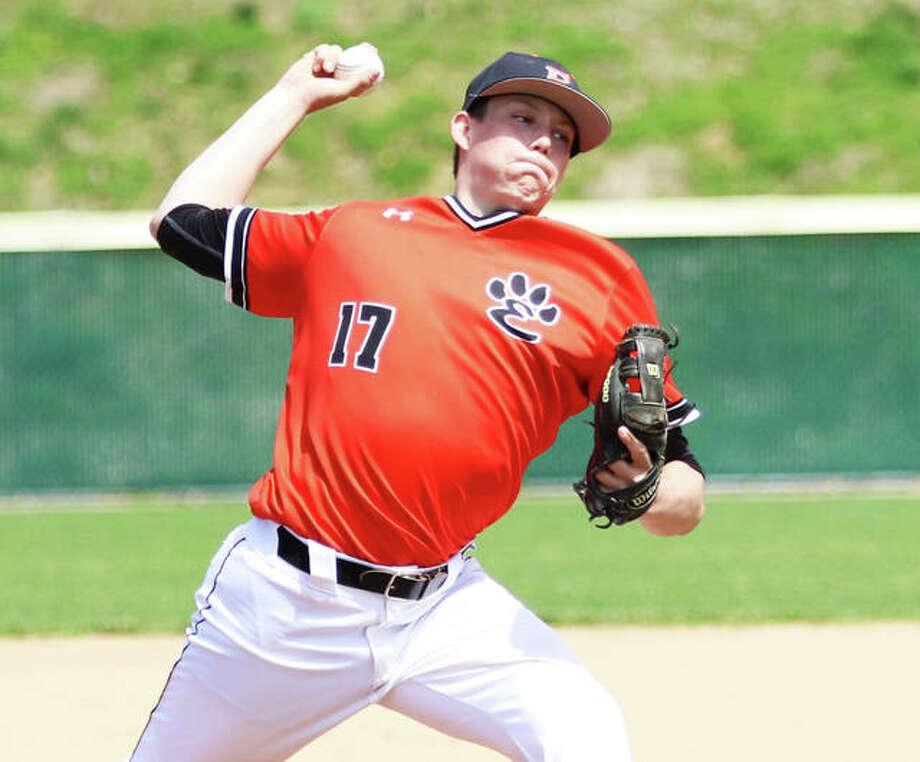 Edwardsville senior pitcher Matt Boyer is expected to get the start Monday when the 34-5 Tigers face Chicago Marist in a Class 4A super-sectional at Lincoln Land Community College in Springfield. A Saint Louis U recruit, Boyer is 10-1 with a 2.01 ERA. Photo: Greg Shashack / The Telegraph
