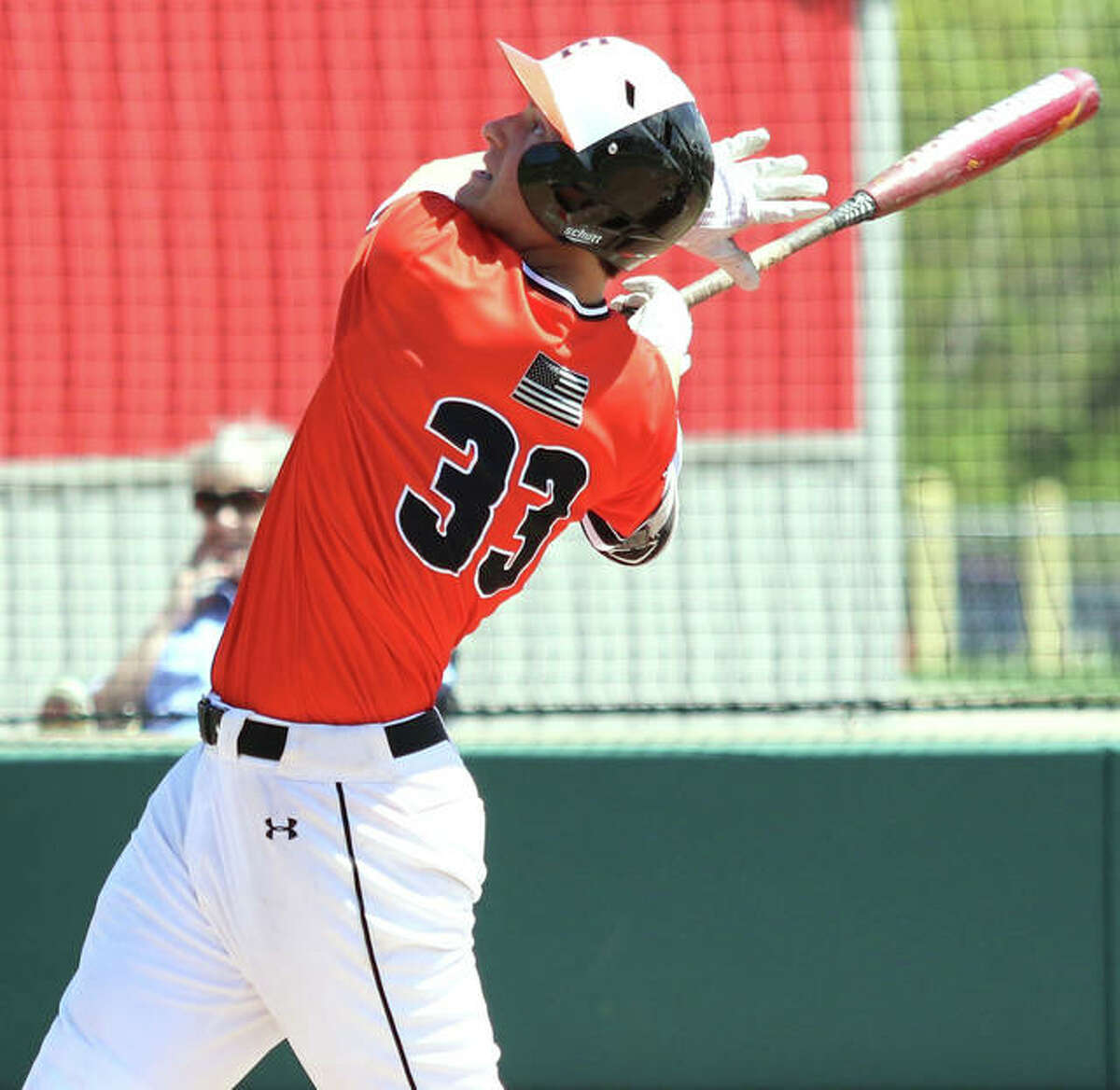 Edwardsville junior Drake Westcott had two home runs and six RBIs in Saturday's sectional championship game victory over Normal West at Illinois Wesleyan in Bloomington.