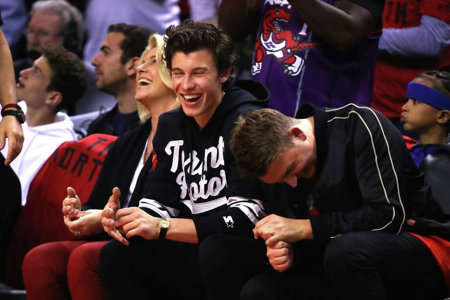 PHOTOS: All the celebrities at Game 2 of the NBA Finals TORONTO, ONTARIO - JUNE 02: Singer and songwriter Shawn Mendes watches Game Two of the 2019 NBA Finals between the Golden State Warriors and the Toronto Raptors at Scotiabank Arena on June 02, 2019 in Toronto, Canada. Browse through the photos above for a look at the celebrities at Game 2 of the NBA Finals in Toronto ... Photo: Gregory Shamus, Getty Images / 2019 Getty Images