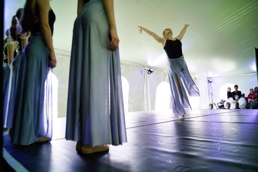 Members of the School of the Arts at the National Museum of Dance perform at the Adirondack Trust Company Festival of Young Artists at the Saratoga Performing Arts Center on Sunday, June 2, 2019, in Saratoga Springs, N.Y. (Paul Buckowski/Times Union)