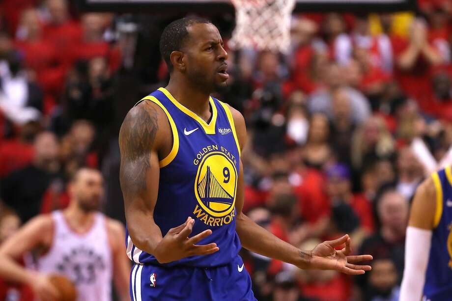 Andre Iguodala of the Golden State Warriors celebrates a basket late in the game against the Toronto Raptors during Game Two of the 2019 NBA Finals at Scotiabank Arena on June 02, 2019 in Toronto, Canada. Photo: Gregory Shamus, Getty Images