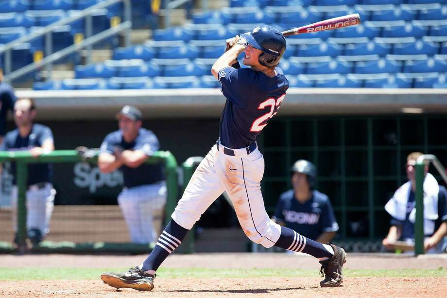 UConn catcher Pat Winkel, a sophomore from Orange, will miss the season after undergoing Tommy John surgery Monday in New York. Photo: Contributed Photo