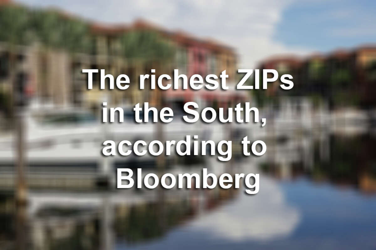 >> Click through the following gallery to see the richest zip codes in the South for 2018, according to Bloomberg.