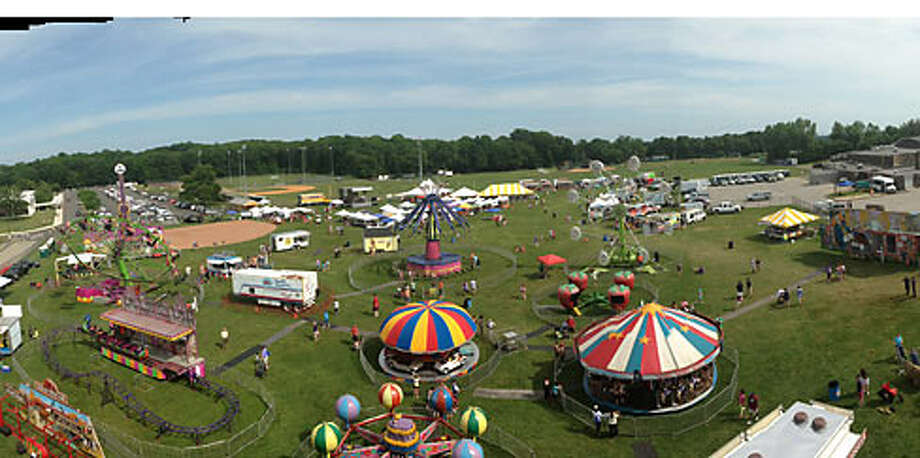 A view from the top. Wandy Brito snapped this shot from the top of the ferris wheel. The carnival was held on the grounds of Trumbull High and Hillcrest Middle School.