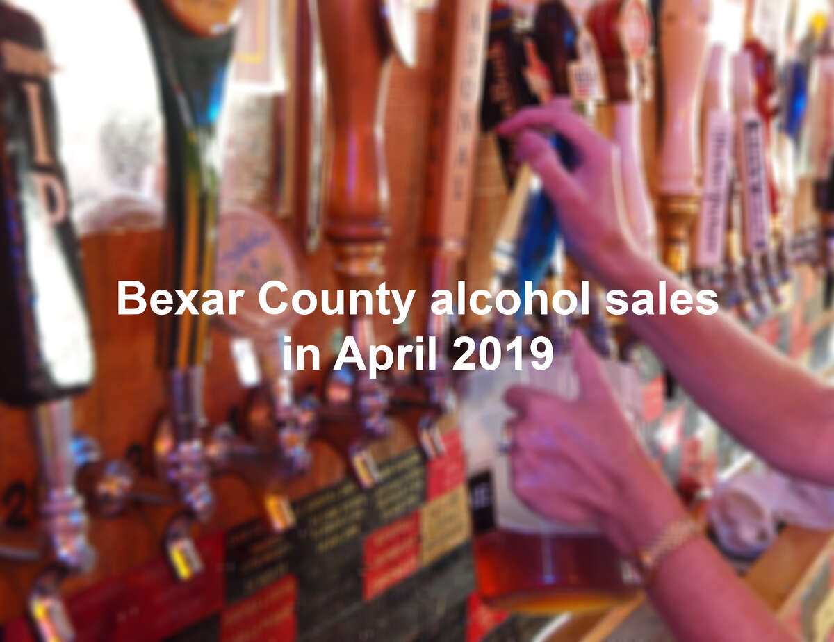 Click through the gallery to see where Bexar County saw the most alcohol sales in April