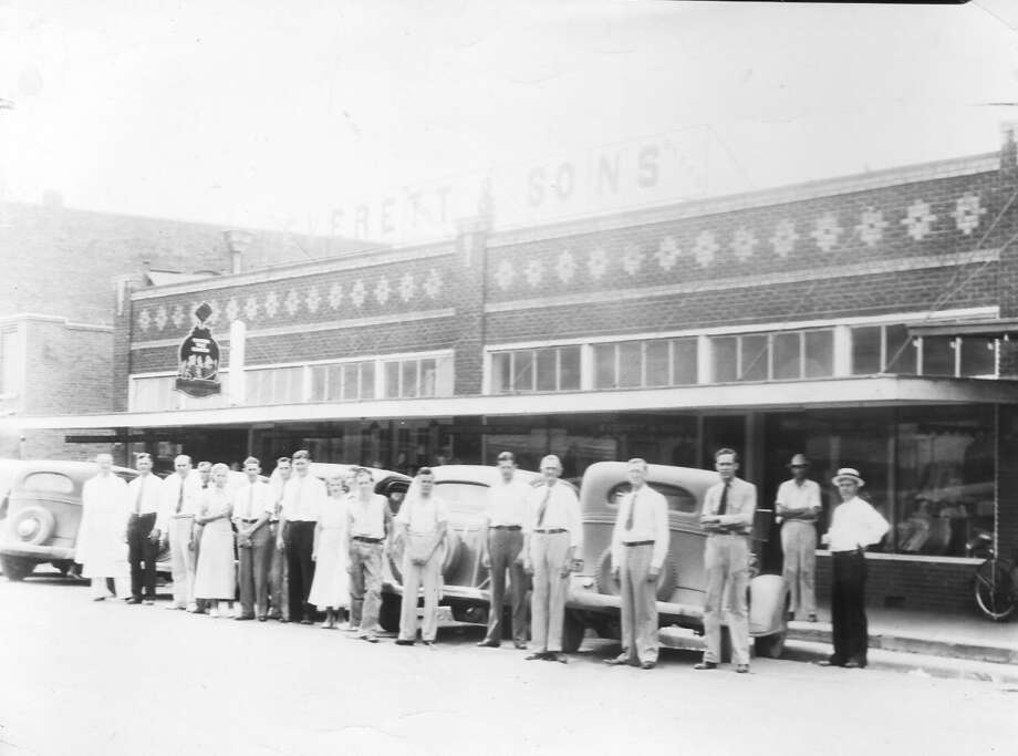 The employees of Everett and Sons outside the store on Simonton Street in downtown Conroe. Photo: Photo Courtesy Larry Foerster / Montgomery County Historical Commission
