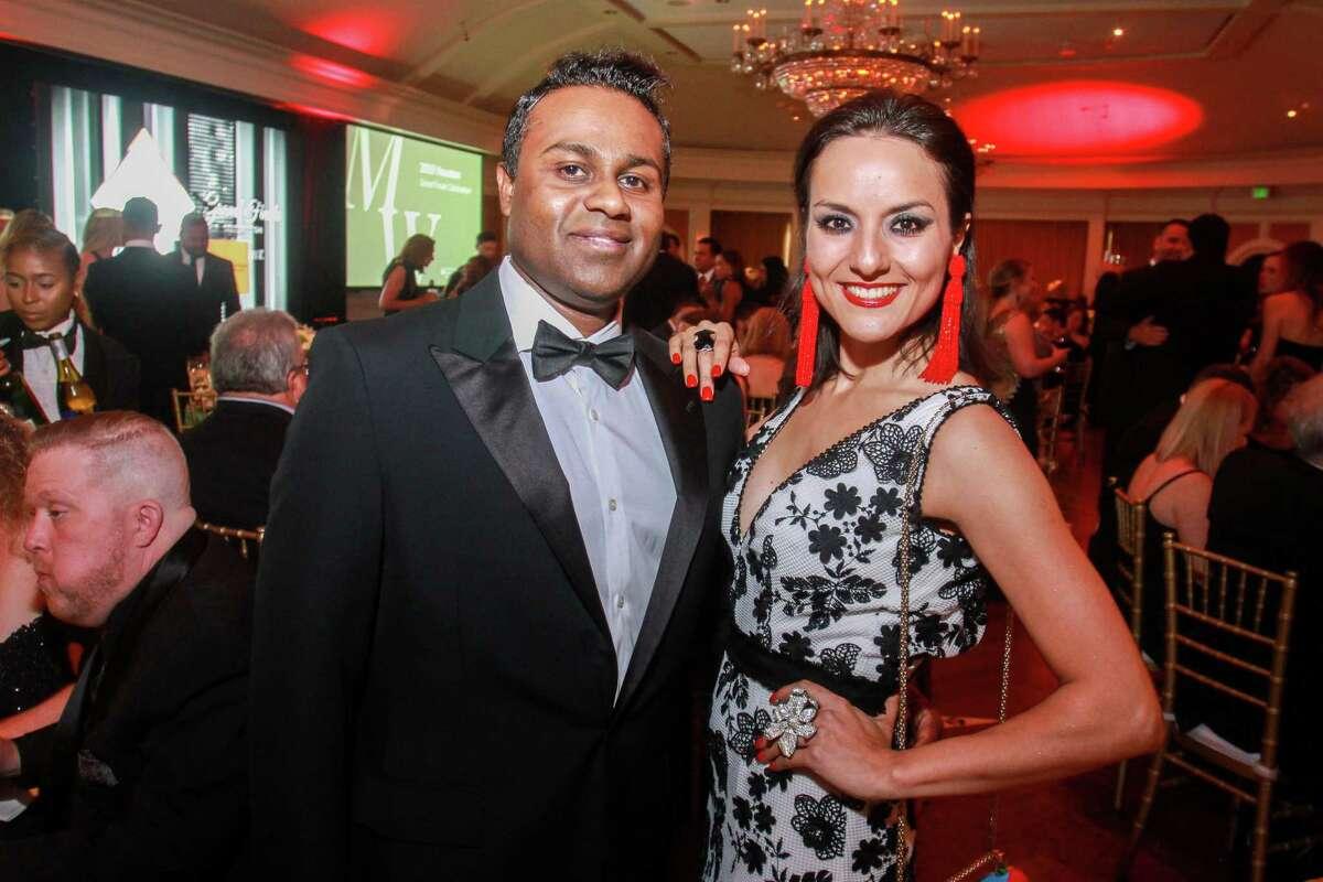 Shankar and Luisa Nadarajah at the Leukemia & Lymphoma Society's Man and Woman of the Year Gala.
