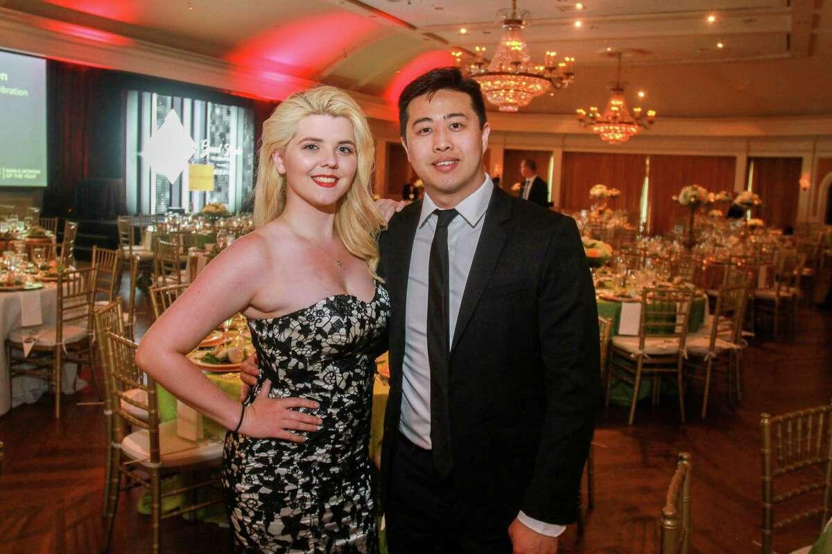 Jordan Freeman and Jeff Lou at the Leukemia & Lymphoma Society's Man and Woman of the Year Gala.