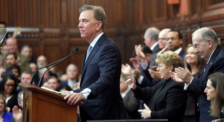 Gov. Ned Lamont delivers the State of the State address to a joint session of the Connecticut General Assembly on Jan. 9, 2019. Photo: Arnold Gold / Hearst Connecticut Media / New Haven Register