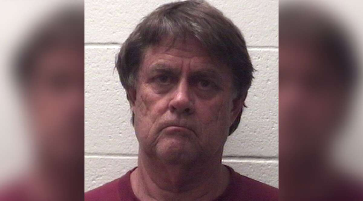 """Sherman Shirley Fricks, 68, was charged with murder for allegedly shooting his son, then having a 20-minute """"father-son"""" talk before fatally stabbing him in Deer Park, Texas, on Sunday, June 2, 2019."""