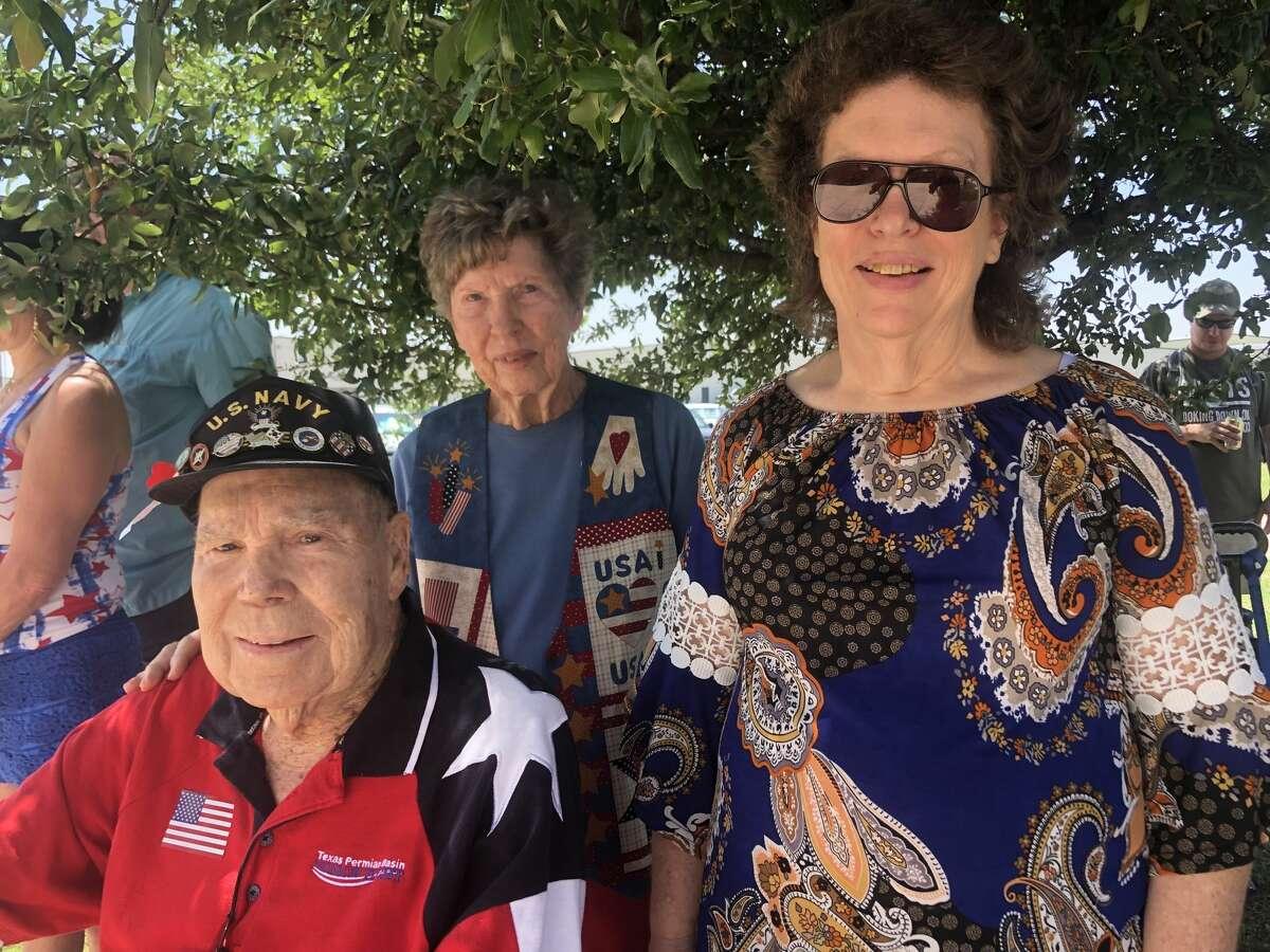 Memorial Day: Betty Barnhill, back, Billy Barnhill and Bonnie Barnhill