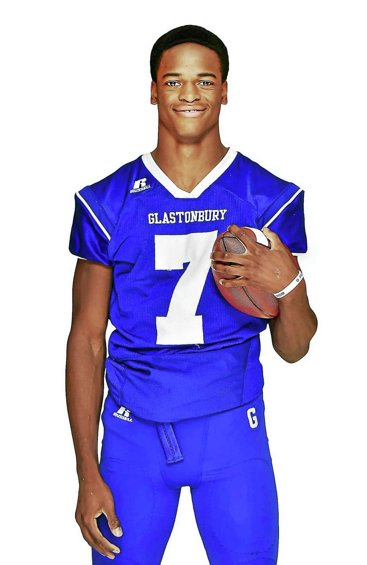 Keyion Dixon of Glastonbury High. Dixon was an All-State receiver in high school.