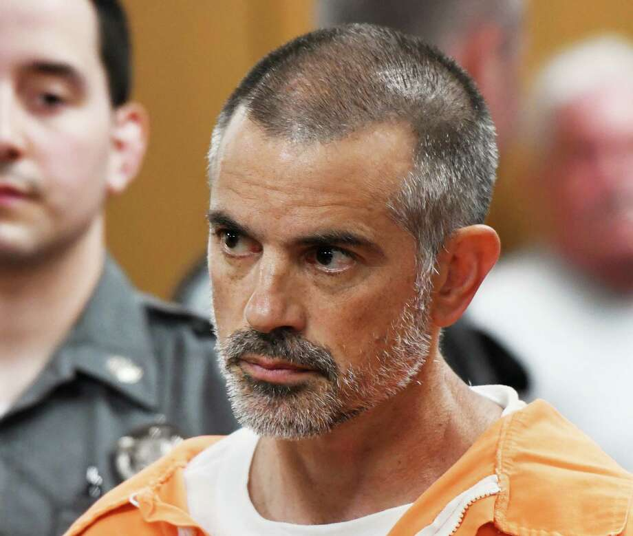 Fotis Dulos, 51, is arraigned on charges of tampering with or fabricating physical evidence and first-degree hindering prosecution at Norwalk Superior Court in Norwalk, Conn. Monday, June 3, 2019. Fotis Dulos, 51, and his girlfriend, Michelle C. Troconis, 44, were arrested at an Avon hotel late Saturday night and held on a $500,000 bond for charges of tampering with or fabricating physical evidence and first-degree hindering prosecution. Fotis Dulos is the estranged husband of Jennifer Dulos, the 50-year-old mother of five who has been missing since May 24. Photo: Tyler Sizemore, Hearst Connecticut Media / Greenwich Time