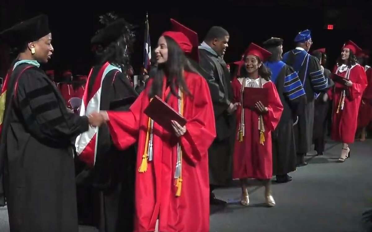 Westfield High School celebrates their graduation at the Berry Center on Sunday, June 2, 2019.