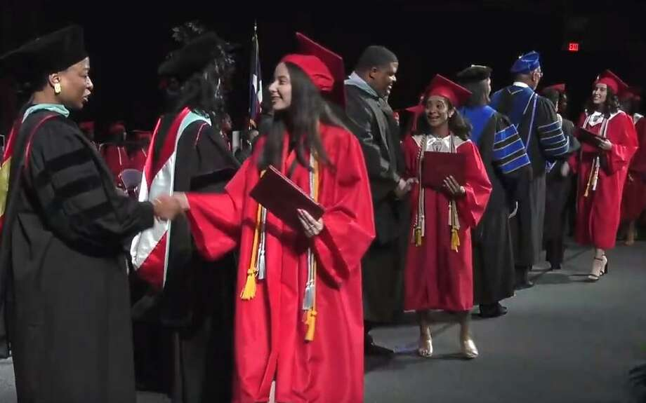 Westfield High School celebrates their graduation at the Berry Center on Sunday, June 2, 2019. Photo: Courtesy Of Spring ISD
