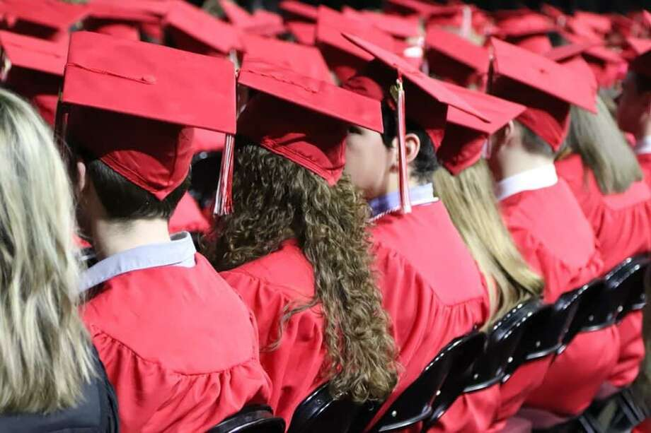 Tomball High School celebrates their graduation ceremony at Reed Arena in College Station on Saturday, June 1. Photo: Courtesy Of Tomball ISD Facebook Page
