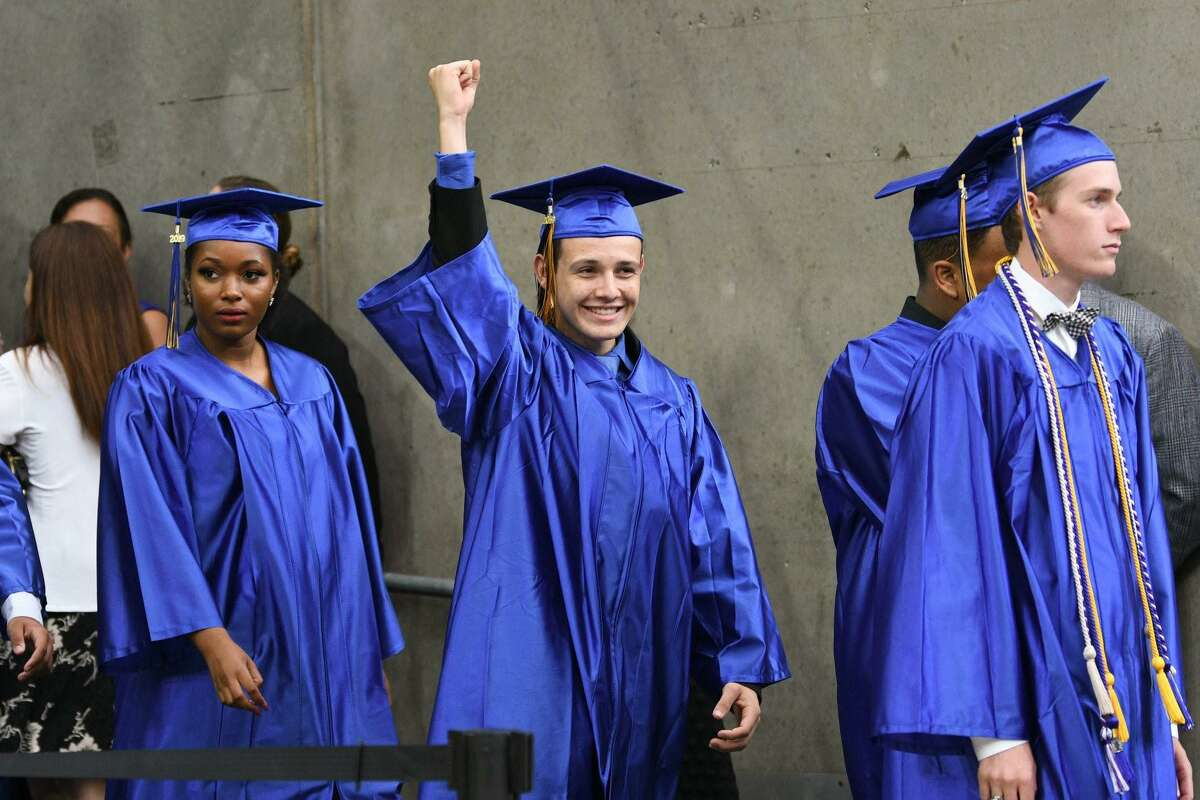Klein High School graduates class of 2019 hold their ceremony at NRG Stadium on Saturday, June 1.