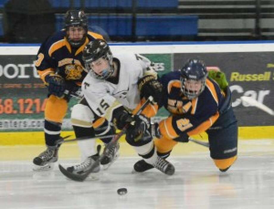 Brady Jensen scored the tying goal for Trumbull. — Andy Hutchison photo