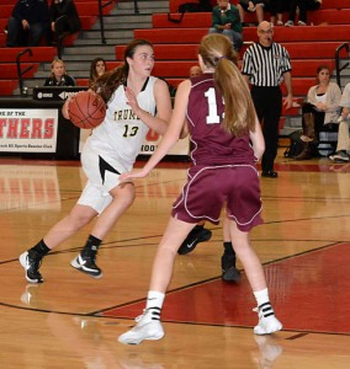 The Trumbull High girls varsity basketball team will play St. Joseph at 6 p.m. in the lidlifter of the 9th annual Officials vs Cancer fundraiser at Fairfield University on Saturday, Jan. 9. - Andy Hutchison photo