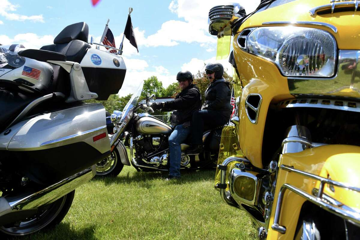 Bikers assemble in Lake George Village for the start of Americade, the annual motorcycle rally that draws thousands of riders to the village surrounding Adirondack Mountains, on Monday, June 3, 2019, on in Lake George, N.Y. (Will Waldron/Times Union)