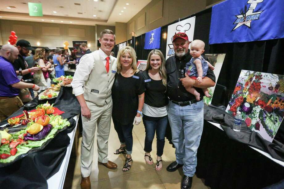 The Spence family of All Star Catering Co: Cody, Coaina, Kandace, Don and Linley pose for a photo during Tastefest on Thursday, June 7, 2018, at The Lone Star Convention and Expo Center. This year's event is set for this Thursday, June 6. Photo: Michael Minasi, Staff Photographer / Houston Chronicle / © 2018 Houston Chronicle