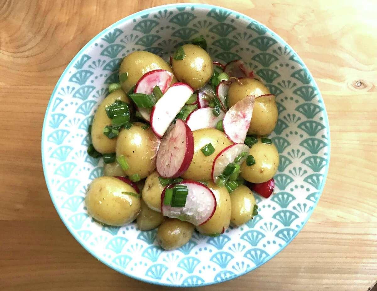 Ponzu Potato Salad with Radishes and Green Onions